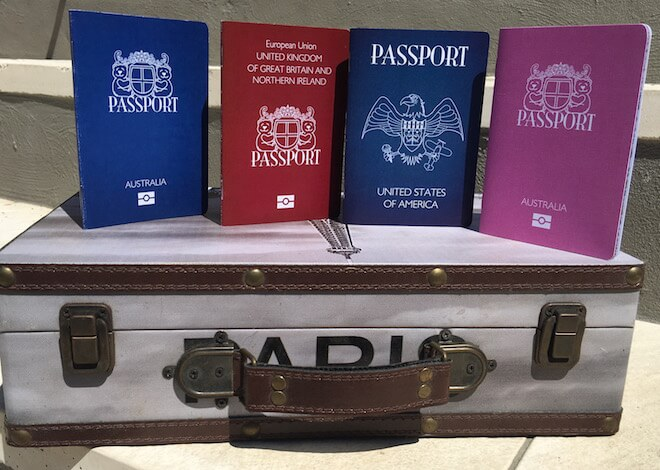 Teddy Bear Passports Different Nationalities