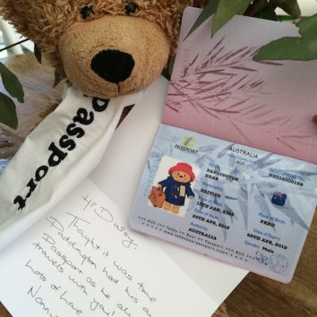 Teddy Bear Passport Personal Message