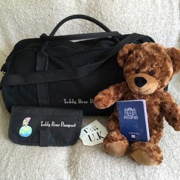 Teddy Bear Passport Travel pack