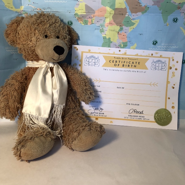 Teddy Bear Passport Birth Certificate